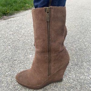 2/$40 Michael Kors brown suede booties, size 6.5